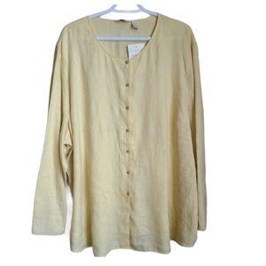 J. Jill   Washed Linen Button Down Blouse